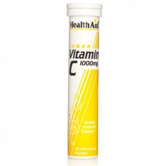 HEALTH AID VITAMIN C LEMON 1000mg 20 eff. tabs