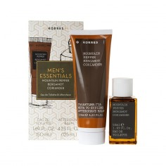 ΠΡΟΣΦΟΡΑ ΣΕΤ KORRES MEN'S ESSENTIALS ΑΡΩΜΑ MOUNTAIN PEPPER 50ml + ΔΩΡΟ AFTERSHAVE 125ml