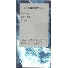 KORRES NEW EAU DE TOILETTE WATER CEDAR LIME 50ml