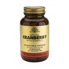 SOLGAR CRANBERRY EXTRACT WITH VITAMIN C 60caps
