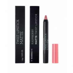 KORRES RASPBERRY MATE TWIST LIPSTICK DUSTY PINK 1.5g
