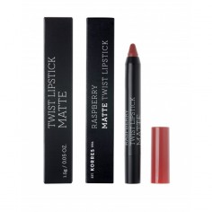 KORRES RASPBERRY MATE TWIST LIPSTICK RUBY RED 1.5g
