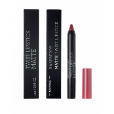 KORRES RASPBERRY MATE TWIST LIPSTICK ADDICTIVE BERRY 1.5g