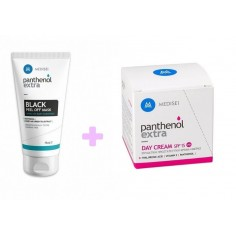 PANTHENOL EXTRA BLACK PEEL OF MASK 75mL & ΔΩΡΟ PANTHENOL EXTRA DAY CREAM 50mL