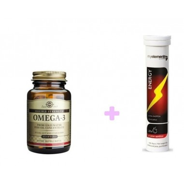 ΠΡΟΣΦΟΡΑ SOLGAR OMEGA-3  30softgels & ΔΩΡΟ   MY ELEMENTS ENERGY 20 Eff.tabs