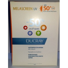 DUCRAY Melascreen UV dry touch  Legere cream 50+spf 40ml+40ml