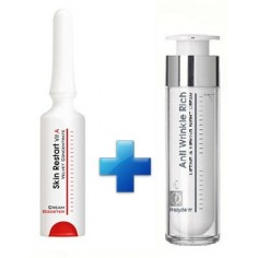 FREZYDERM SKIN RESTART VIT A CREAM BOOSTER 5mL & FREZYDERM ANTI-WRINKLE NIGHT CREAM (45+) 50ml
