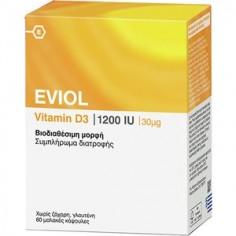 EVIOL Vitamin D3 1200iu 60soft caps