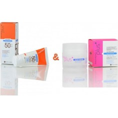 PANTHENOL PLUS Aqua Repair Summer Set Αντηλιακή Κρέμα SPF50 50ml & Αντιγηραντική Κρέμα 50ml