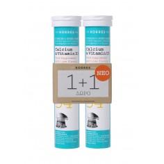 Korres Set Calcium & Vitamin D3, 18 Αναβράζοντα Δισκία 1+1 Δώρο