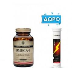 ΠΡΟΣΦΟΡΑ SOLGAR OMEGA-3 TRIPLE STRENGTH 50softgels  ΔΩΡΟ MY ELEMENTS ENERGY 20 Eff. Tabs