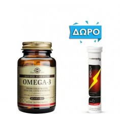 ΠΡΟΣΦΟΡΑ SOLGAR OMEGA-3 700mg 60softgels ΔΩΡΟ MY ELEMENTS ENERGY 20 Eff. Tabs